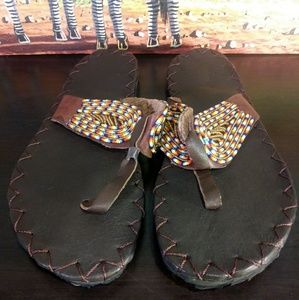 Women's Leather Sandles Size 9